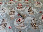 Téli - karácsonyi mintás 160 cm széles pamutvászon textil