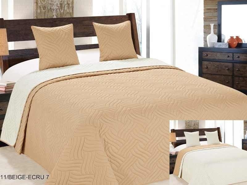 Ágytakaró szett 220x240 cm 3 részes - krém - barna indás. 3b988120ae