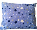 140cm széles pamutvászon kék alapon fehér mintával.