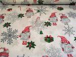 Zöld szürke téli mintás pamutvászon textil